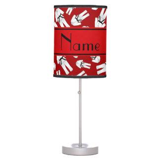 Modelo rojo conocido personalizado del karate lámpara de escritorio