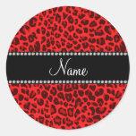 Modelo rojo conocido personalizado del leopardo pegatinas
