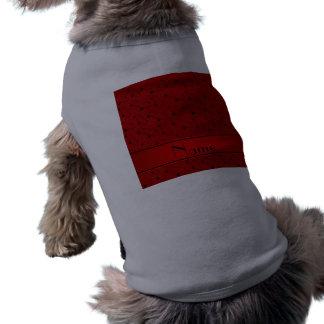 Modelo rojo conocido personalizado del monopatín playera sin mangas para perro