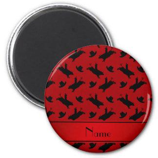 Modelo rojo conocido personalizado del montar a imán redondo 5 cm