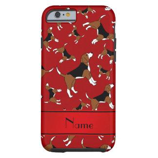 Modelo rojo conocido personalizado del perro del funda resistente iPhone 6