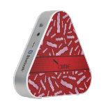 Modelo rojo conocido personalizado del tocino altavoz bluetooth