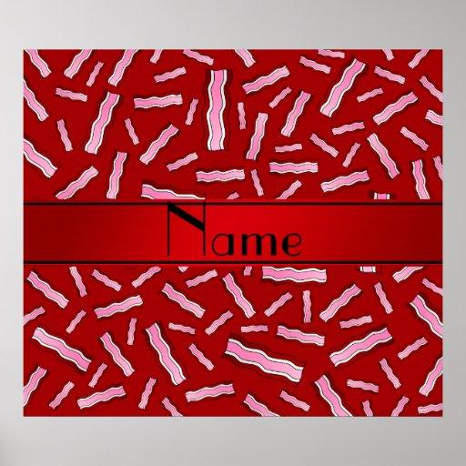Modelo rojo conocido personalizado del tocino impresiones