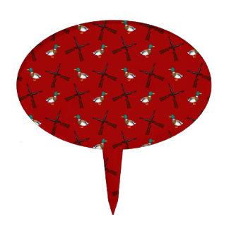 modelo rojo de la caza del pato palillos de tarta