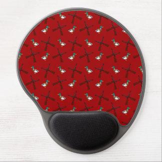 modelo rojo de la caza del pato alfombrillas de ratón con gel