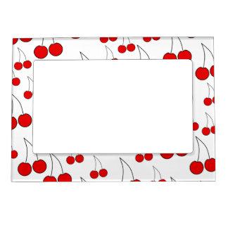 Modelo rojo de la cereza marcos magneticos para fotos