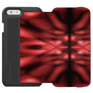 Modelo rojo de la fantasía funda billetera para iPhone 6 watson