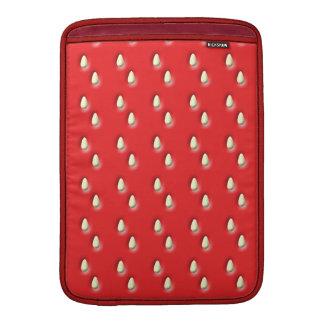 Modelo rojo de la fresa fundas macbook air