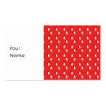 Modelo rojo de la fresa plantilla de tarjeta de negocio