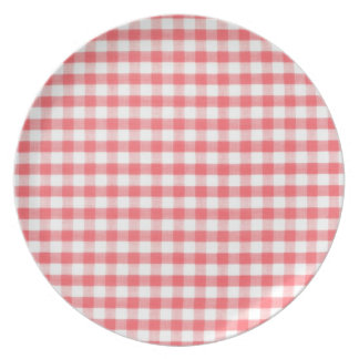 Modelo rojo de la guinga platos de comidas
