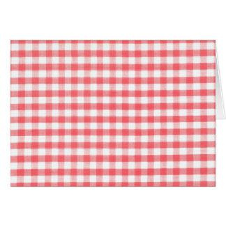 Modelo rojo de la guinga tarjeta de felicitación