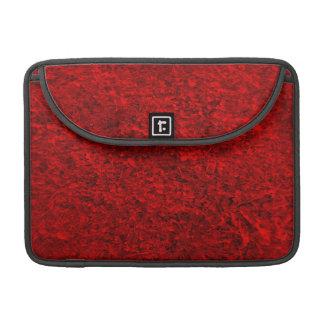 Modelo rojo de la hierba fundas para macbooks