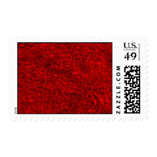 Modelo rojo de la hierba sellos postales