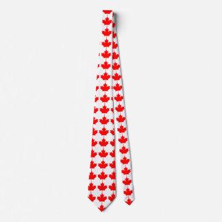 Modelo rojo de la hoja de arce de Canadá Corbata Personalizada