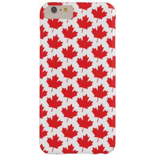 Modelo rojo de la hoja de arce del canadiense del funda barely there iPhone 6 plus