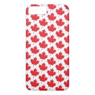 Modelo rojo de la hoja de arce del canadiense del funda iPhone 7 plus