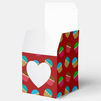 Modelo rojo de la magdalena cajas para detalles de boda