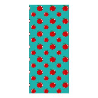 Modelo rojo de la manzana de la turquesa tarjetas publicitarias a todo color