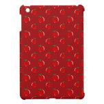 Modelo rojo de la manzana iPad mini funda