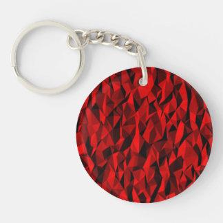 modelo rojo de la textura llavero redondo acrílico a doble cara