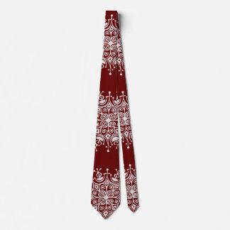 Modelo rojo de la ventisca de los copos de nieve corbatas personalizadas