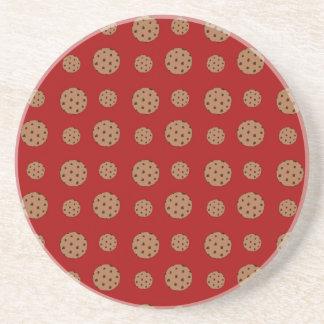 Modelo rojo de las galletas de microprocesador de  posavasos personalizados