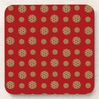 Modelo rojo de las galletas de microprocesador de  posavaso