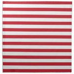 Modelo rojo de las rayas servilleta imprimida