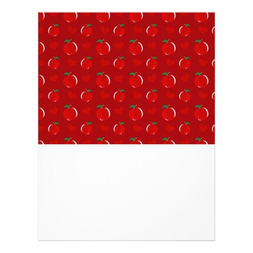 Modelo rojo de los corazones de la manzana tarjetas informativas