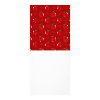 Modelo rojo de los corazones de la manzana lonas publicitarias