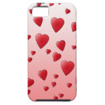Modelo rojo de los corazones del amor iPhone 5 Case-Mate carcasa
