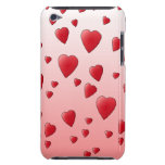 Modelo rojo de los corazones del amor iPod touch Case-Mate cobertura