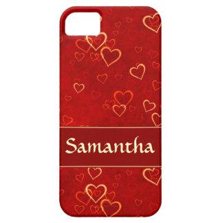 modelo rojo de los corazones iPhone 5 Case-Mate coberturas