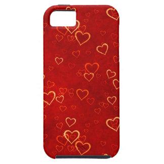 modelo rojo de los corazones iPhone 5 Case-Mate carcasa