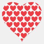 Modelo rojo de los corazones calcomanías corazones personalizadas