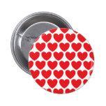 Modelo rojo de los corazones pin