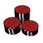 Modelo rojo de los dados de la diversión fichas de póquer