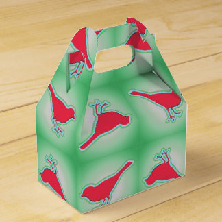 Modelo rojo de los pájaros caja para regalos