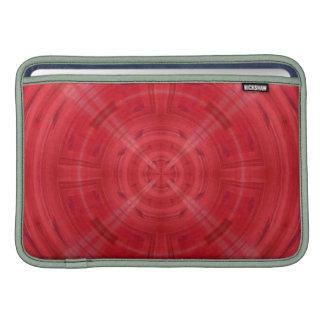 Modelo rojo de moda del círculo fundas macbook air