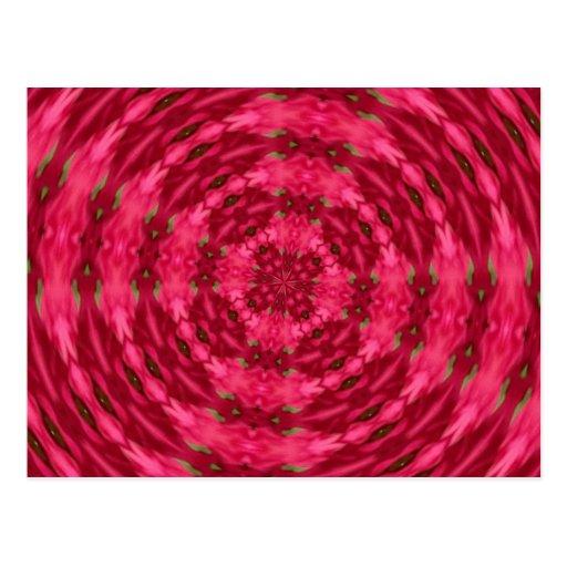 Modelo rojo de Myrtle Kladescope Postal