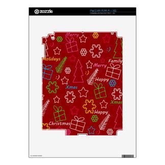 Modelo rojo de Navidad Skins Para eliPad 2