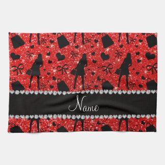 Modelo rojo de neón conocido de encargo de las toalla de mano