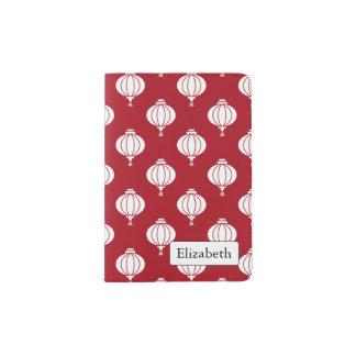 modelo rojo de oriental de las linternas del Libro Porta Pasaporte
