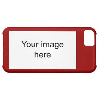 Modelo rojo de plantilla en blanco fácil y rápida funda para iPhone 5C