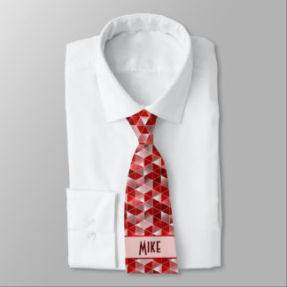 Modelo rojo de rubíes de los triángulos adaptable corbata