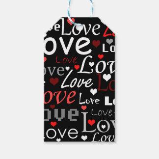 Modelo rojo del amor etiquetas para regalos