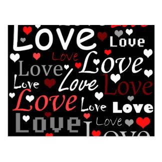 Modelo rojo del amor postal