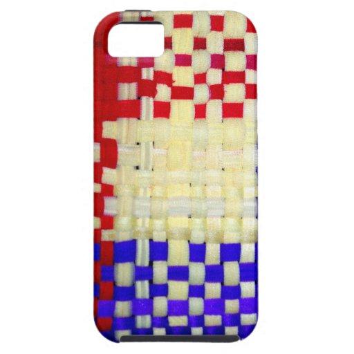 Modelo rojo, del azul y del amarillo de la iPhone 5 fundas