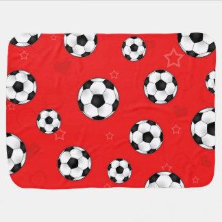 Modelo rojo del balón de fútbol manta de bebé