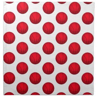 Modelo rojo del baloncesto servilletas